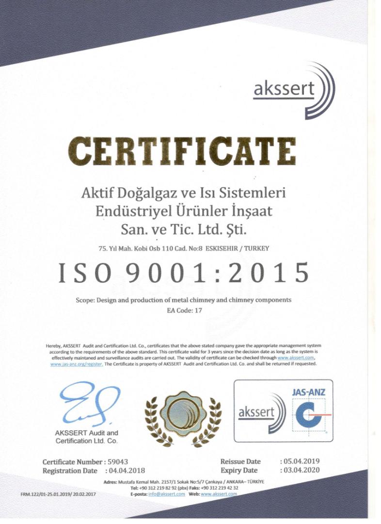 AKSSERT CERTIFICATE 2019