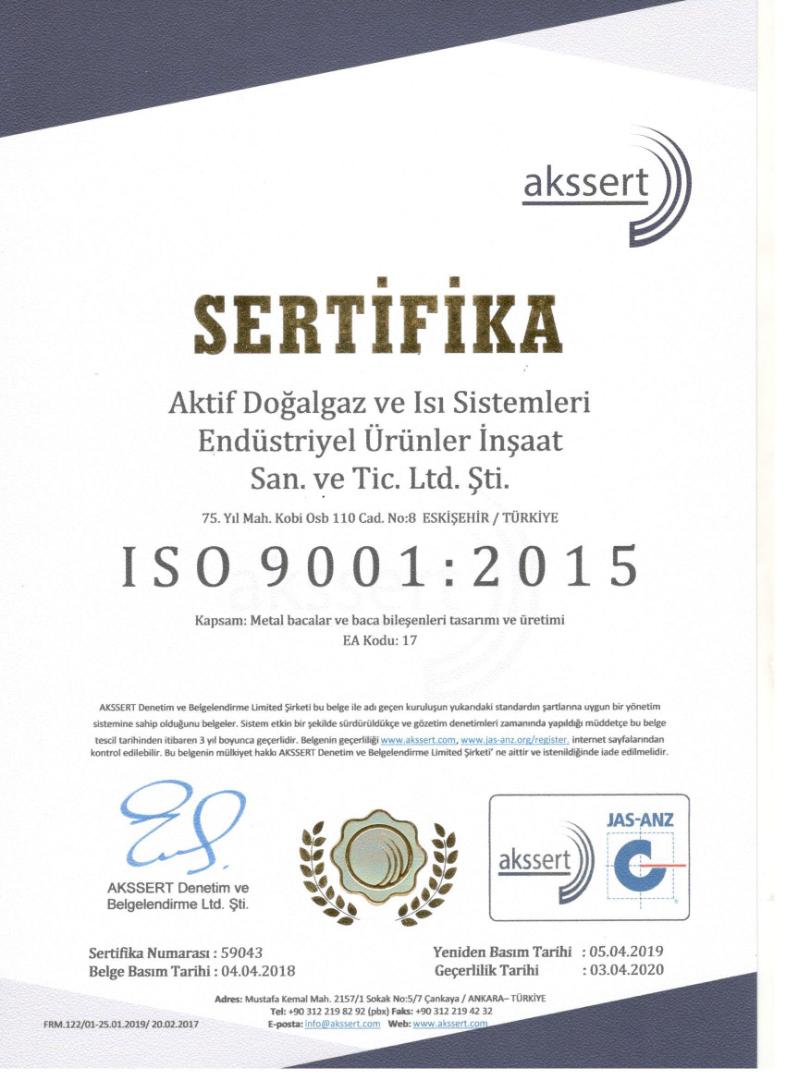 AKSSERT ISO BELGE 2019